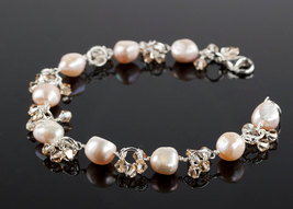 Charmed Life - Pink Pearl Charm Bracelet - $92.00