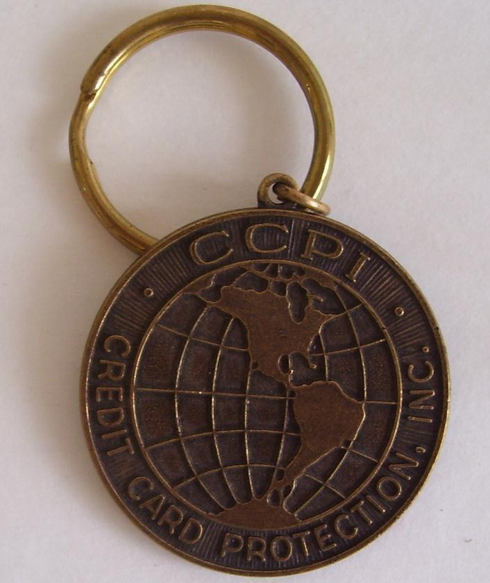 CCPI INSURANCE: Credit card Protection Fob/Mark/Medallion/Coin KEY CHAIN