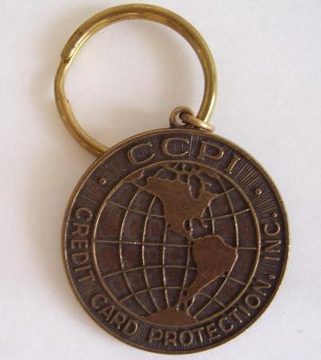 CCPI INSURANCE: Credit card Protection Fob/Mark/Medallion/Coin KEY CHAIN