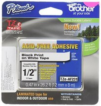 """Brother Genuine P-touch TZE-AF231 Tape,1/2"""" (0.47"""") Wide Acid-Free Adhes... - $23.65"""