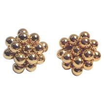 Vintage Gold Sphere Cluster Earrings by Park Lane - $79.95