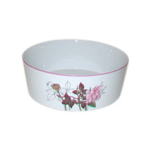 Block Spal Bowl, Pink Western Rose Pattern Serving Bowl, Portugal - $24.99