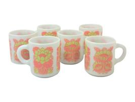 Vintage Mid-Century Milk Glass Mugs-Set of Six - $41.54