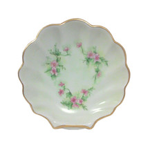 Vintage Victorian Style Porcelain Clam Shell Dish, Hand Painted Pansies,... - $135.00