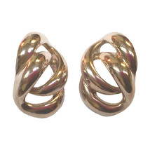 Vintage Napier Chain Link Silver-tone Earrings - $24.99