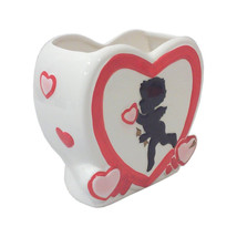 Vintage Stanford Pottery Ceramic Cupid Heart Valentine Wedding Planter, ... - $56.00