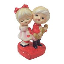Vintage Ceramic Valentine Couple Figurine or Wedding Cake Topper - $115.00