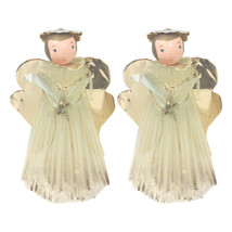 Vintage Angel Decorations with Aluminum Wings-Pair - $36.00
