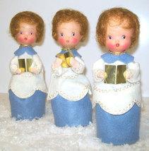Mid-Century Angel Figurines Christmas Caroler Dolls, Set of 3 - $18.99
