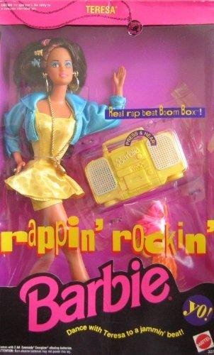 Barbie Rappin` Rockin` TERESA Doll w Working Boom Box (1991) [Toy]-NEW in BOX