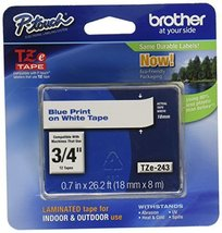 """Brother Genuine P-Touch TZE-243 Tape, 3/4"""" (0.7 mm) Standard Laminated P... - $24.71"""