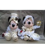 Holiday Mickey and Minnie Bean Bag Set [Toy]-BRAND NEW - $24.99