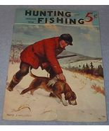 Hunting and Fishing Magazine January 1938 Harry Livingston Cover - $7.95