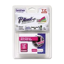 Brother Tape, White on Berry Pink (TZMQP35) - $21.05
