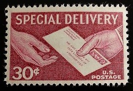 1957 30c Letter & Hands, Special Delivery Scott E21 Mint F/VF NH - $0.99