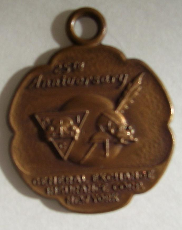 GENERAL EXCHANGE Insurance Corp New York 25 Years Anniversary Medallion/Coin FOB