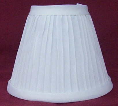 New WHITE Pleated Mini Chandelier Lamp Shade