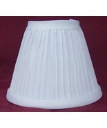 New WHITE Pleated Mini Chandelier Lamp Shade - $8.00