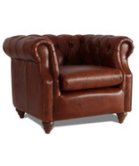 MarquessLife 100% Genunie Leather Handmade Tufted Couch Chesterfield Sin... - $1,600.00