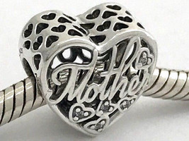 Authentic Pandora Mother & Son Bond Sterling Silver Charm, 792109CZ, New - $38.94
