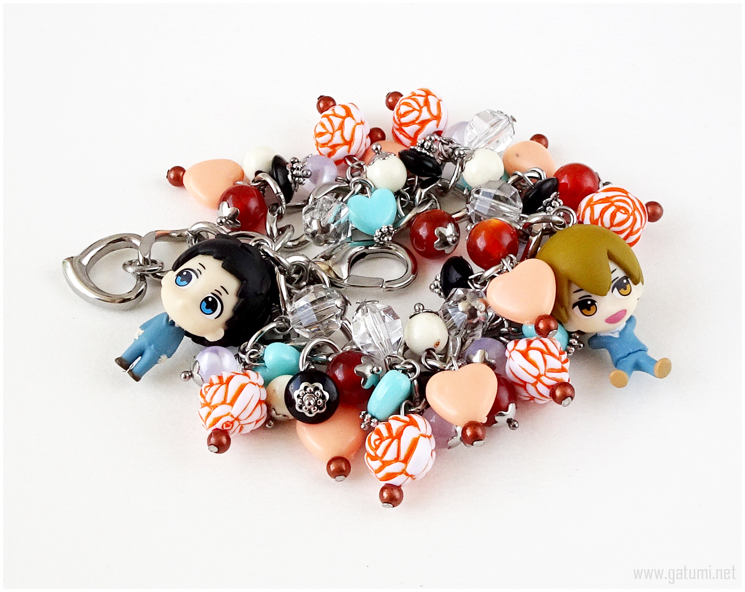 Primary image for Mikado x Masaomi Charm bracelet, Anime Couple, Anime Figures, Kawaii Jewelry