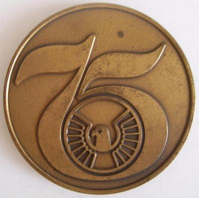 IOWA NATIONAL MUTUAL INSURANCE 75 Year Anniversary Mark/Medallion/Coin 1909-1984