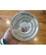 Art Deco La Pierre Sterling Silver Pierced Nut Candy Bowl Reticulated 2.... - $69.99