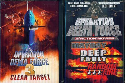 OPERATION DELTA FORCE: Mayday- Clear Target- Deep Fault- Random Fire NEW 3 DVD