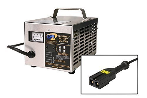 42 Volt 17 Amp Golf cart Battery charger with EZGo 48TXT Notched (Western) Co...