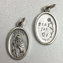 "3/4"" Saint Jude Patron of Impossible Causes Difficulties Italian Medal Pendant  - $5.95"