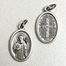 "3/4"" Saint Benedict of Nursia Exorcism Devil Protection Medal Pendant Catholic - $5.95"