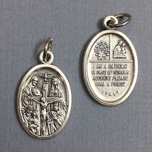3/4 Inch 4 Four Way Cross Italian Catholic Religious Medal Pendant Silver Tone - $10.99