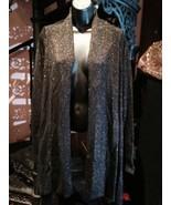 Black Vintage Sy]tyle Black Copper Metallic Sweater Jacket - $37.40