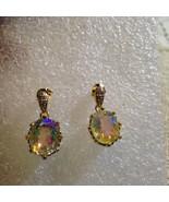 Vintage Bohemian  Mystic Topaz Sterling Silver Earrings - $116.88