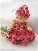 Itty Bitty Babies, baby DOLL CLOTHES TO KNIT with cotton thread- see pics - $19.43