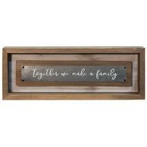 Rustic Wooden Together We Make a Family Framed Sign Gift Idea - $29.65