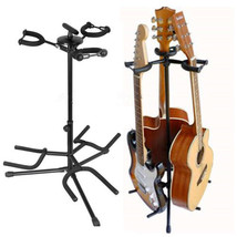 "37.4"" Musicians Gear Triple Guitar Musical Instruments Stand Holds 3 gui... - $27.15"