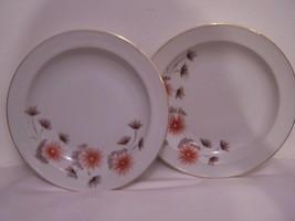"Lot of 2 Bowls Salad Soup Dinnerware China White Floal Design Dine 8"" dia - $9.89"