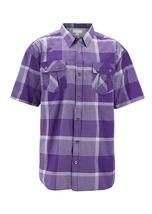 Men's Short Sleeve Cowboy Button Down Casual Plaid Pattern Western Dress Shirt image 15