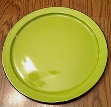 "Vintage Green Enamel Charger Plate 13.5"" Mid-Century Modern Japan - $18.80"