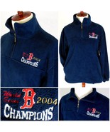 VTG 2004 Boston Red Sox WORLD SERIES CHAMPS 1/4 Zip Fleece jacket/Mens M... - $27.41