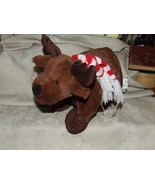 CUTE 2012 MOOSE with Knit Red & White Striped Scarf Sticky Open/Close Ce... - $25.00