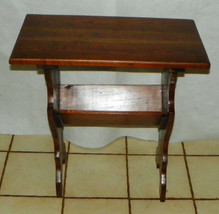 Solid Walnut Bookshelf Table / End Table  (RP) - $299.00