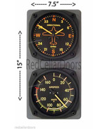 TRINTEC Vintage DIRECTIONAL GYRO & AIRSPEED Clock & Thermometer F Console - $61.13