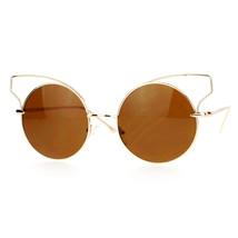 High Fashion Sunglasses Womens Wire Metal Round Cateye Shades - $10.95