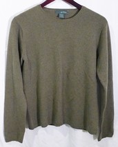 Griffen womens cashmere sweater crew neck color olive size medium - $27.71