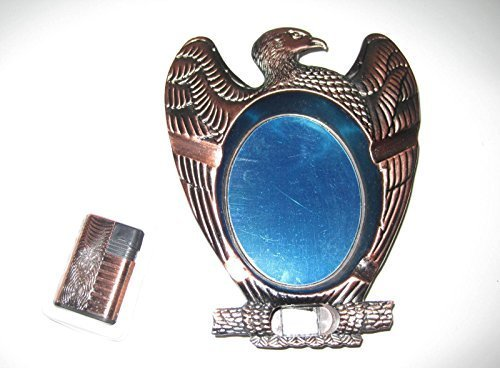 Eagle Ashtray w/Butane Lighter Copper Color - One Lighter w/Random Color and ...