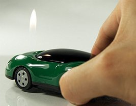 Race Car Butane Lighter - One Lighter w/Random Color and Design (Green) [Misc.]