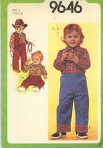 Simplicity 9646 Toddler's Pull-On Pants, Shirt and Reversible Vest Size ... - $2.00