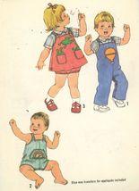 Simplicity 8950 Toddler Romper Overalls & Jumper Sunsuit w/ Applique Siz... - $2.00